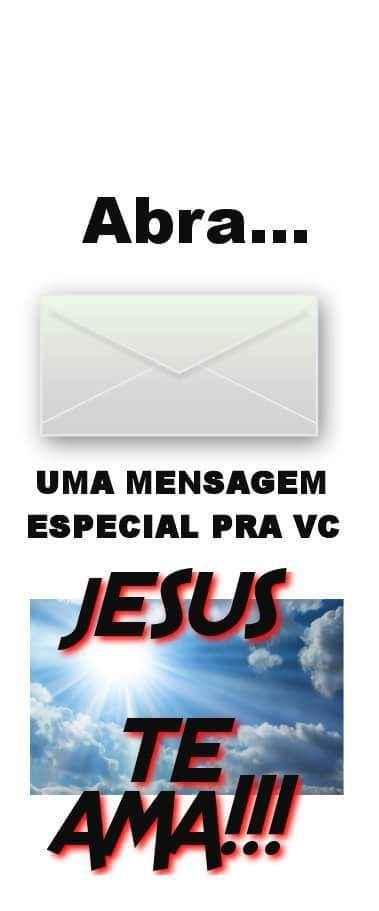 Abra: Uma mensagem especial pra você. Jesus te ama!.