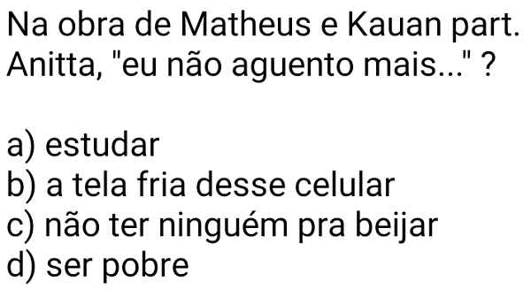 Na obra de Matheus e Kauan. Na obra de Matheus e Kauan part. Anitta,