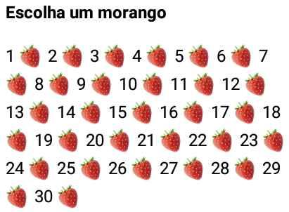 Escolha um morango. Nova brincadeira para whatsapp: Escolha um morango e se divirta com as respostas!.