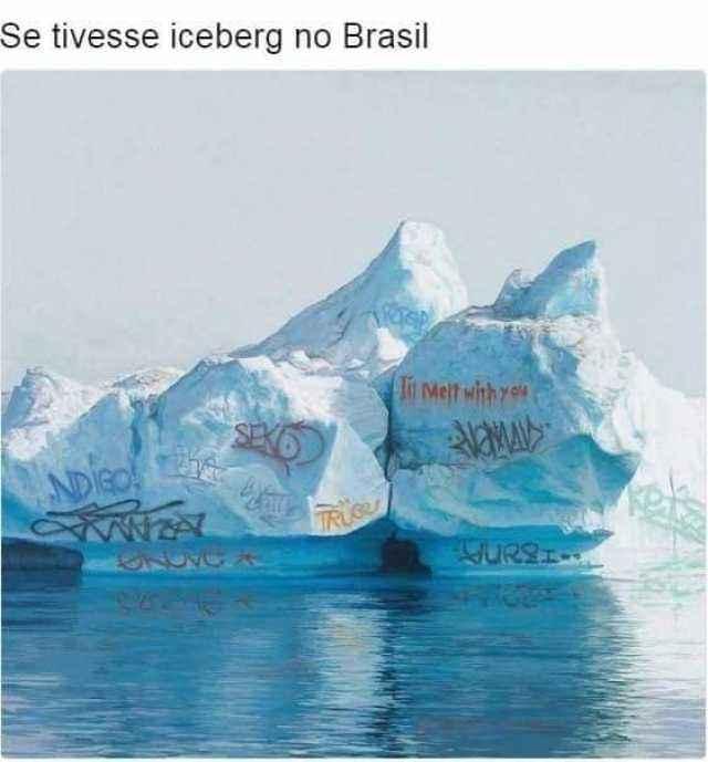 Se tivesse iceberg no Brasil. Imagine se tivesse iceberg no Brasil, como seria...?.