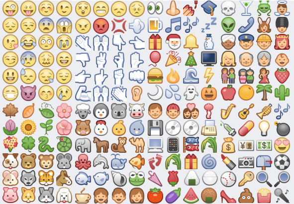 Emoticons secretos do face. Lista de todos os ícones ou emoticons secretos do Facebook que podem ser enviados no chat ou nos comentários de fotos. .