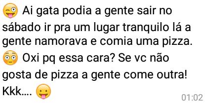 Vc não gosta de pizza?