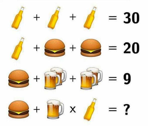 Teste de raciocínio: Garrafa, copo e hamburguer. Consegue resolver esse teste...?.