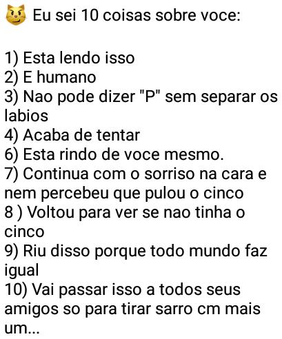Eu sei 10 coisas sobre você