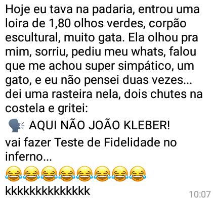 Aqui não João Kléber!!!