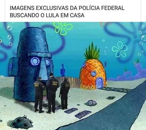 Polícia federal na casa do Lula...