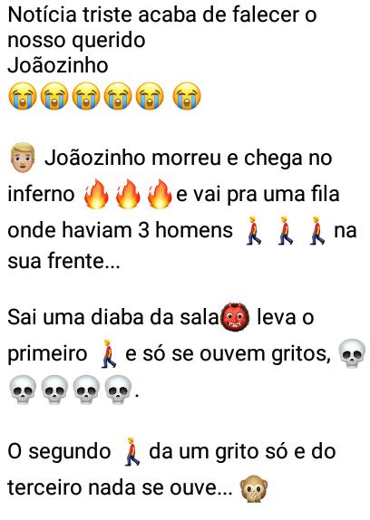 Notícia triste. Acaba de falecer o nosso querido Joãozinho.