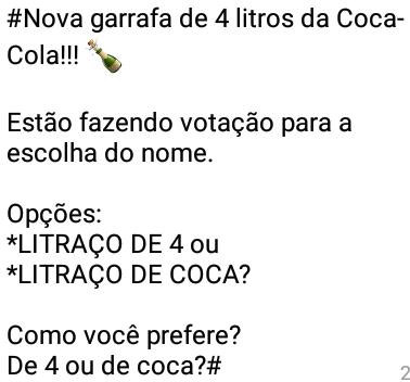 Brincadeira quente: Nova garrafa da coca-cola