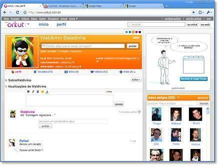 Orkut lança seu novo visual. Depois de alguns anos o orkut muda novamente seu visual, confira as novidades..