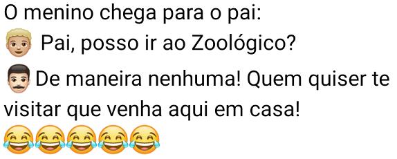 Pai, posso ir ao Zoológico?. Filho chega no pai e pergunta se pode ir no Zoológico... confira.