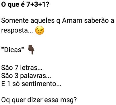 O Que 7 3 1