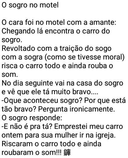 O sogro no motel