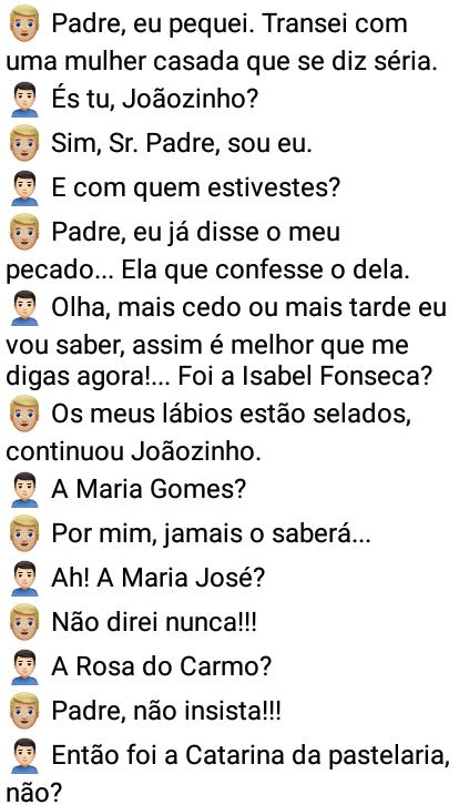 Joãozinho no confessionário