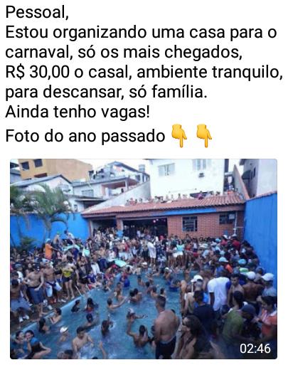Casa para passar o carnaval com piscina