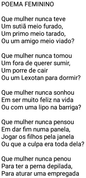 Poema feminino