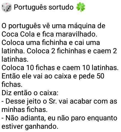 Português sortudo