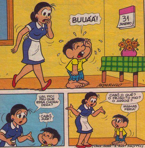 Fio, pru quê cê ta choranu?. Mãe do chico bento quer saber o motivo do filho estar chorando.