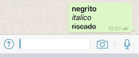 Escrevendo em negrito, itálico e riscado no whatsapp