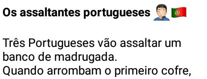 Os assaltantes portugueses