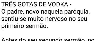 Três gotas de vodka
